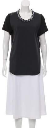3.1 Phillip Lim Embellished Short Sleeve Top