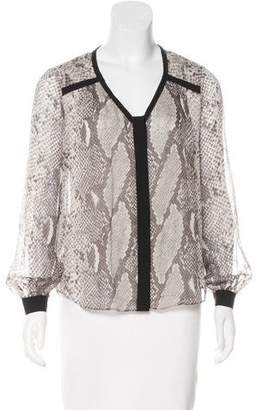 Diane von Furstenberg Silk Button-Up Top