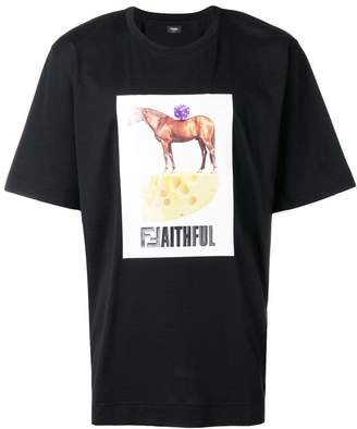 Fendi graphic print T-shirt