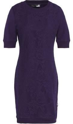 Love Moschino Matelassé Stretch-Cotton Mini Dress