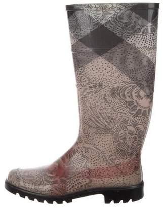 Burberry Check Rain Boots