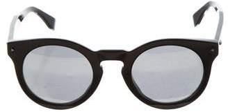 Fendi Mirrored Keyhole Sunglasses