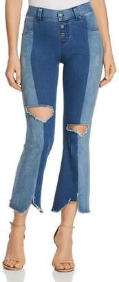 Hue Ultra Soft Two-Tone Cropped Flare Leggings