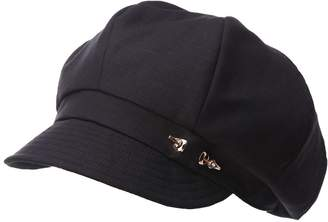 Siggi Ladies Linen/Cotton Newsboy Cabbie Beret Cap Black Hat Painter Caps for Women