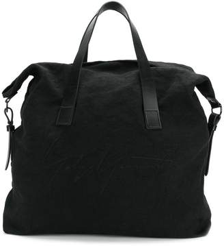 Yohji Yamamoto open top tote bag