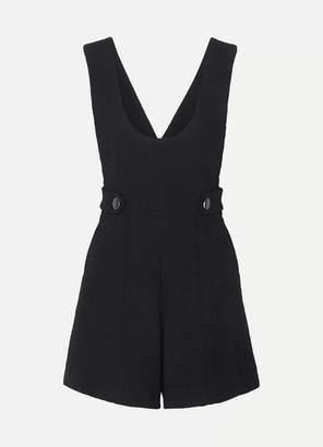5c8d676454 Vanessa Bruno Linedia Button-embellished Cotton-blend Playsuit - Navy
