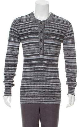 Dolce & Gabbana Striped Henley Sweater