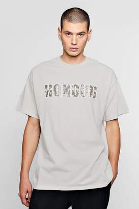 boohoo Honour Slogan T-Shirt