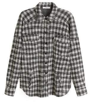 MANGO Check tweed shirt