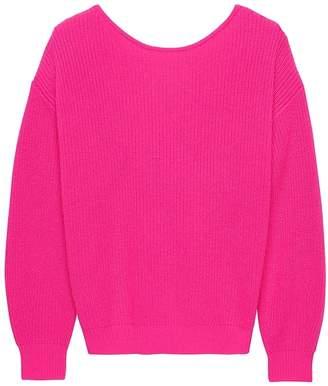 Banana Republic Cashmere Twist-Back Sweater