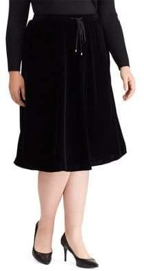 Lauren Ralph Lauren Plus Velvet A-Line Skirt