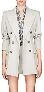 Isabel Marant Women's Kleigh Cotton-Linen Double-Breasted Blazer - White