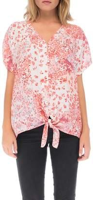 Bobeau Floral Button-Up Shirt
