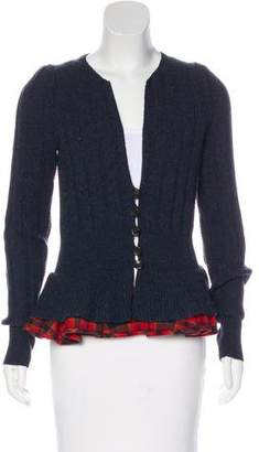 Marc by Marc Jacobs Ruffled Wool Cardigan