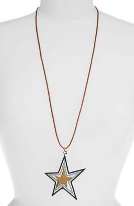 Tory Burch Star Spinner Adjustable Slider Necklace