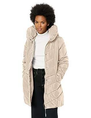 Steve Madden Women's Chevron Quilted Puffer Jacket,XL