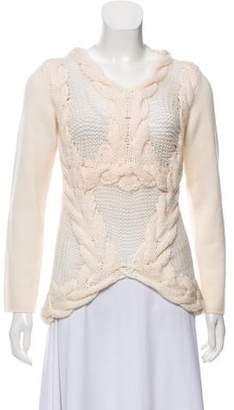 Malo Crochet-Accented Cashmere Sweater