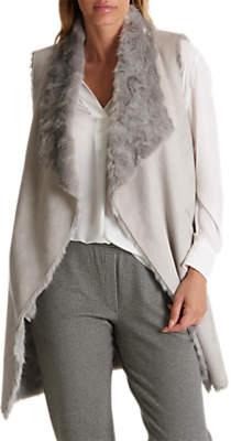Faux Fur Gilet, Light Silver