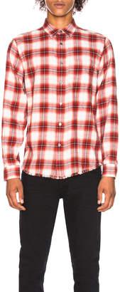 Frame Fray Hem Work Shirt