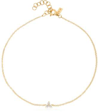 Ef Collection Diamond Trio 14kt Gold Anklet