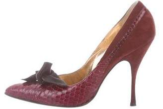 Dolce & Gabbana Snakeskin Pointed-Toe Pumps