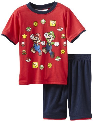 Nintendo Boys 2-7 Mario Bros 2 Piece Knit Short Set