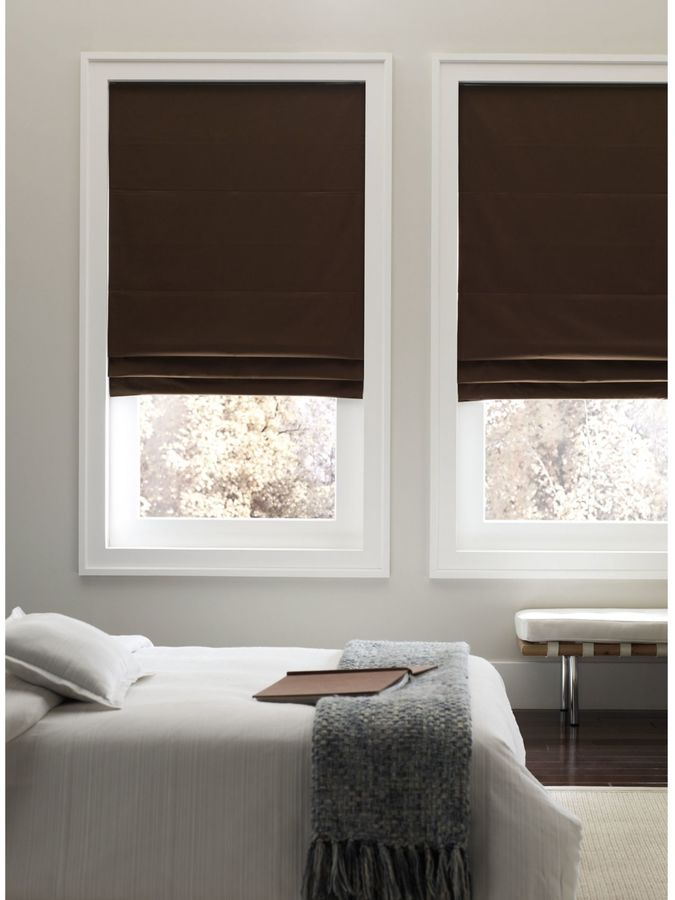 Bed Bath & Beyond Real Simple®Cordless Fabric Roman Shade