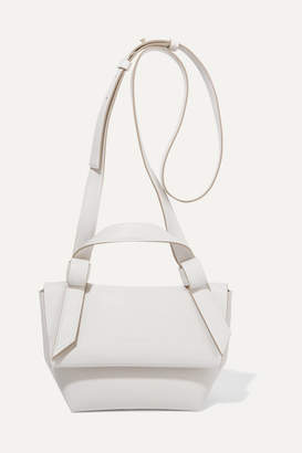 Acne Studios Musubi Milli Small Knotted Leather Shoulder Bag - White