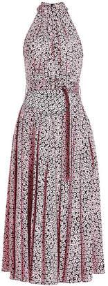 Diane von Furstenberg Printed Silk Halter Dress