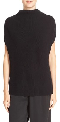 Vince Sleeveless Funnel Neck Wool & Cashmere Sweater $295 thestylecure.com