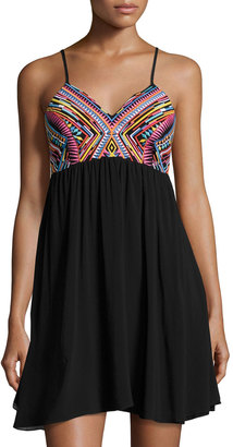 PilyQ Michelle Embroidered Swing Dress, Multi Pattern $79 thestylecure.com