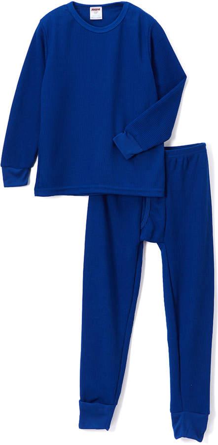 Royal Blue Thermal Underwear Set - Boys