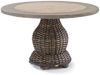 Lane Venture South Hampton Round Dining Table - Tuscan Brown