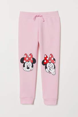 H&M Sweatpants with Printed Design - Pink