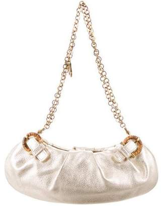 Salvatore Ferragamo Metallic Leather Bag