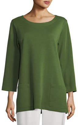 Caroline Rose 3/4-Sleeve Front-Pocket Tunic