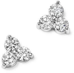 Bloomingdale's Diamond Three Stone Stud Earrings in 14K White Gold, 0.38 ct. t.w. - 100% Exclusive