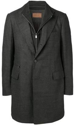 Corneliani zipped single-breasted coat