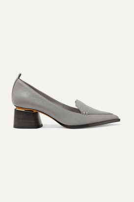 Nicholas Kirkwood Beya Textured-leather Pumps - Dark gray