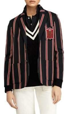 Polo Ralph Lauren Wool-Blend Cricket-Stripe Blazer