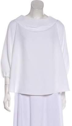 Tibi Short Sleeve Casual Top
