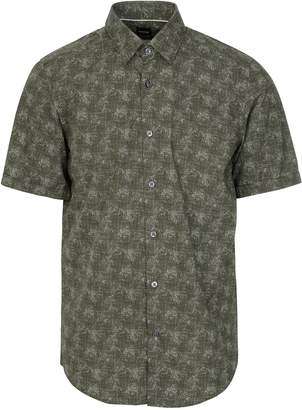 a01f0e196 at Circle-Fashion · BOSS Hugo Luka Linen Shirt