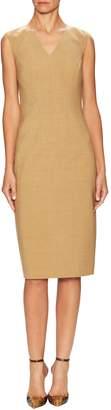 Carolina Herrera Women's Virgin Wool V-Neck Dress