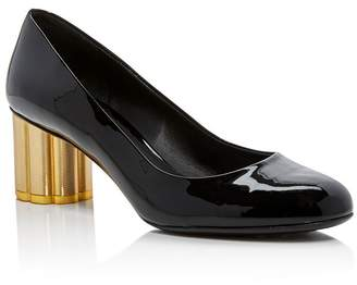 4f432ea77f8b Salvatore Ferragamo Women s Lucca Patent Leather Floral Heel Pumps