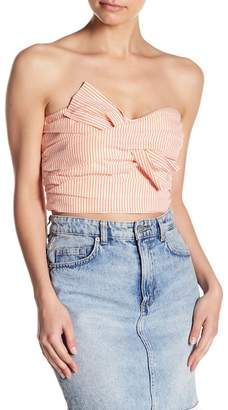 Do & Be Do + Be Pinstripe Strapless Crop Top
