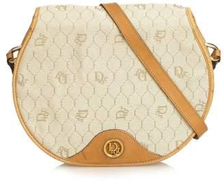 Christian Dior Vintage Honeycomb Coated Canvas Crossbody Bag