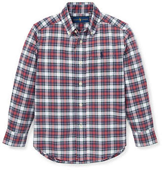 Ralph Lauren Little Boy's Plaid Cotton Oxford Shirt