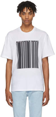 Alexander Wang White Barcode T-Shirt