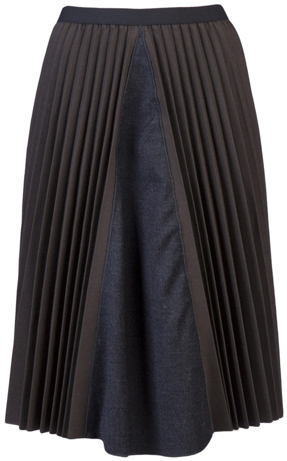 Hache Pleated skirt