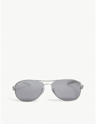 Ray-Ban Ladies Grey Durable Rb8301 Tech Aviator Sunglasses
